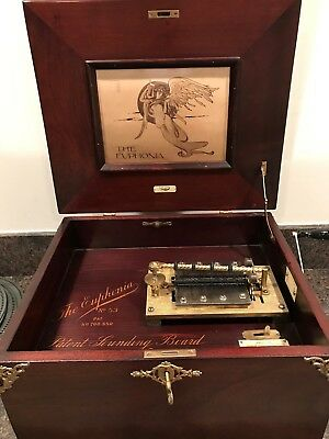 "Euphonia 14"" Ornate Double Comb Disc Music Box Style 53 RARE!!!!"