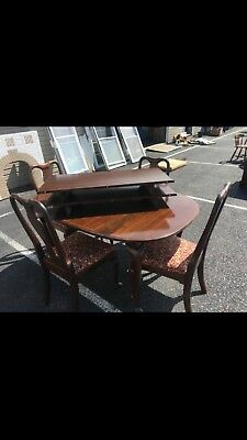 Ethan Allen Queen Anne Style Dining Table 4 Chairs 3 Leaves