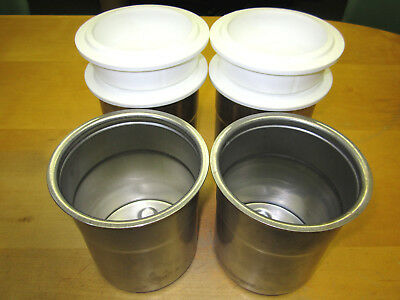Pacojet Pacotizing S/s Beakers W/lids (Set Of 4) For Pj1/pj2 **free Shipping**!