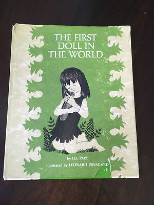 """Rare Antique Vintage Children's Book """"The First Doll In The World"""" Lee Pape"""