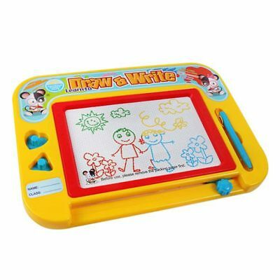 Magnetic Drawing Board for Kids & Toddlers with Stamps - Erasable Colorful P6V9