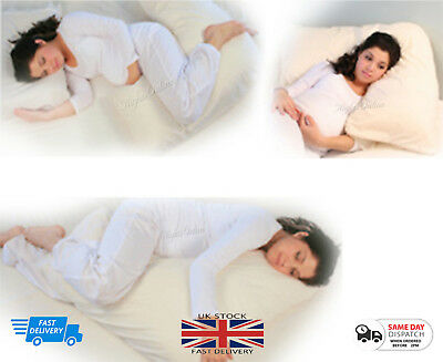 Luxury Soft Like Down Microfibre V Shaped Pillow Maternity With Free Pillow Case