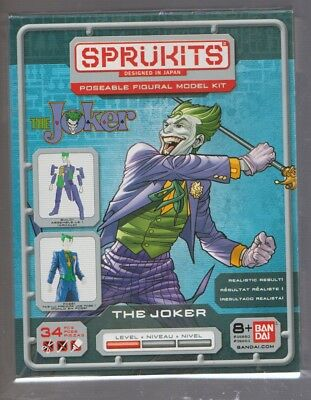 Bandai 35653 Sprukits Batman's The Joker Build an Action Figure! Model Kit New!
