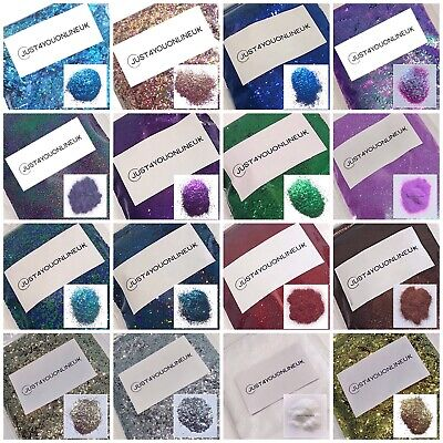 Chunky Glitter Sparkle Art Craft Epoxy Resin Artist Glass Color Bulk Loose Bags