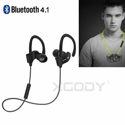 XGODY Bluetooth Earphone Sports Headphone Wireless Stereo Super Bass Headsets