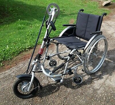 Rio Mobility 8-speed Dragonfly Handcycle and Meyra X1 Wheelchair