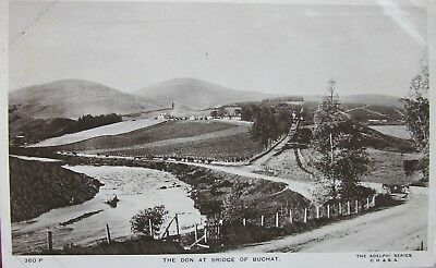 The Don At Bridge Of Buchat Aberdeenshire 1911 Rp Pc