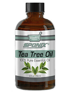 Best Tea Tree Essential Oil - Top Aromatherapy Oil - 100% Pure - 4 oz by Sponix