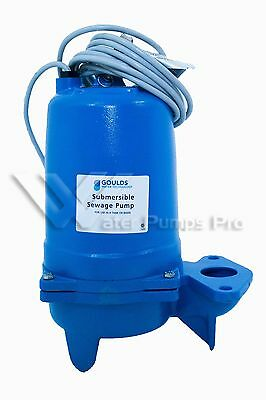 Goulds WS2012BHF Submersible Sewage Pump, 2HP