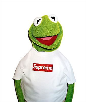 Kermit Supreme x Kermit the frog classic iconic poster A2 Medium Quality Glossy