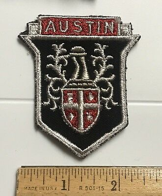 Austin Healey Emblem Logo British Automobile Cat Company Embroidered Patch Badge