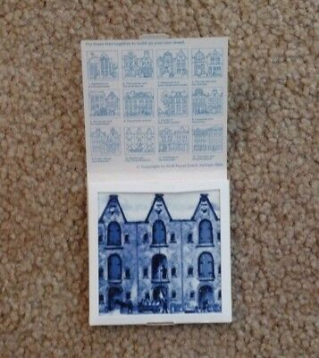 "KLM Royal Dutch Airlines 1984 Collectible Tile 10 Warehouse ""The Three Brothers"""