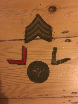 WWI Air Service patches lot discharge stripe PFC patch Overseas service stripe