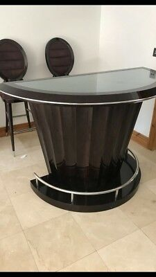 Beautiful contemporary art deco style drinks bar  & Stools