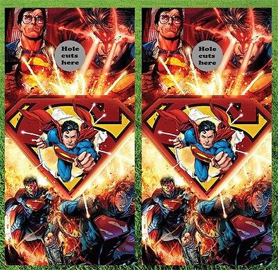 Superman Cornhole Wrap Decals Bag Toss 3M Vinyl 12x24 Fast Shipping Best Quality