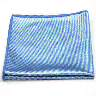 Microfibre Glass Cloths Blue PACK OF 10 Window Mirror Glass Cleaning Quality UK