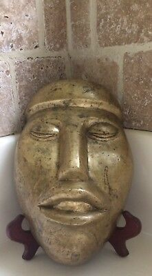 Bronze Olmec Funeral Mask Xtra Big And Heavy Mexico Xtra Heavy