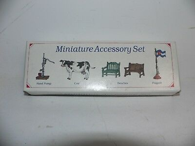 The Americana Collection 6 Miniature Accessory Set Ah-52 Vintage