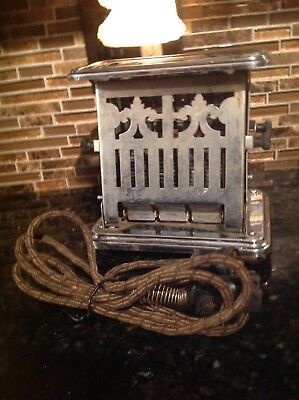 Vintage Antique  Dual Sided Toaster Stainless Works Great!!