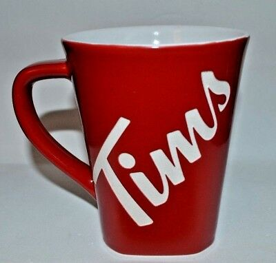 RARE TIM HORTONS 2018 Limited Ed.  Coffee Cup Mug RED Square Tim's Mug