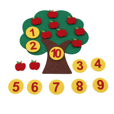 Wooden Math Toys Learning Educational Magnetic Apple Tree For Children LH