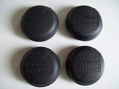 4 x black 75mm Genuine ifor williams Trailer hub/grease caps Free P&P BARGAIN