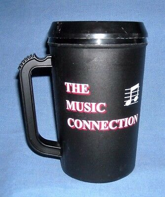 Travel Mug Coffee Cup Double Wall Insulated 20 oz Black- The Music Connection