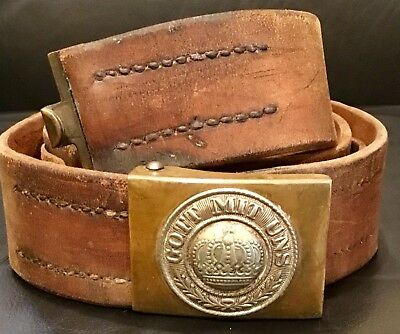 Imperial German, Pre-WW1 Prussian Enlisted Man's Date Marked Belt/Brass Buckle.