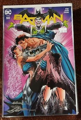 DC Batman #50 Neal Adams Color Variant Signed with COA