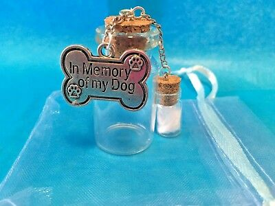 Pet Memorial Pet Dog Ashes Urn In loving memory/With mini jar with angel feather