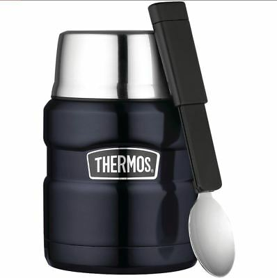 Thermos 16 oz Stainless Steel Vacuum Insulated King Food Jar Spoon double wall