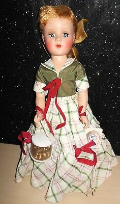 "GORGEOUS RARE Vintage 17"" Early Sweet Sue Hard Plastic Strung Doll All Original!"