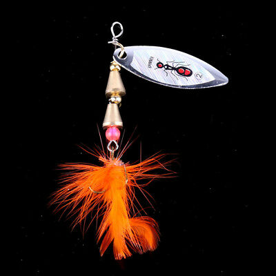 Sequins Rotating Spinner 2016 Lure 1pcs Hook Feather Fishing Lures Bass Baits