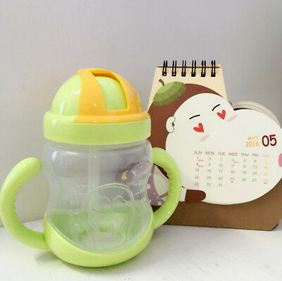 Bottle Learn Cup Cute Feeding 280ml Children Drinking Water Hot Baby Kids Straw
