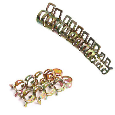 10X Hose Clips Air Low Pressure Clamp Type Fuel Petrol Pipe Spring Band HOT NEW