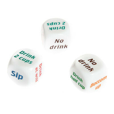 Drinking Decider Die Games Bar Party Pub Dice Fun Funny Toy Game Xmas Gift FY