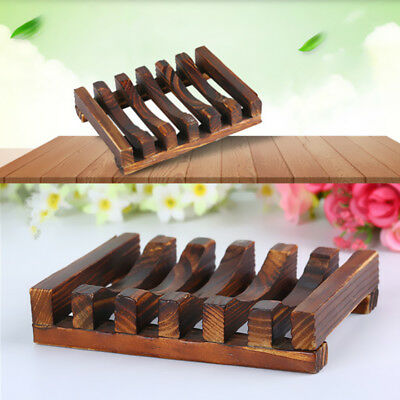 1Pcs Bath Bathroom Tray Charcoal Storage Kitchen Wooden Soap Holder Soap Dishes