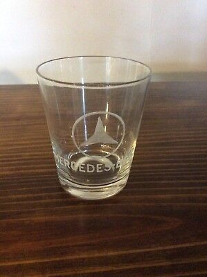 Mercedes Benz Rock Highball Drinking Glass  Mercedes Logo Etched Glass