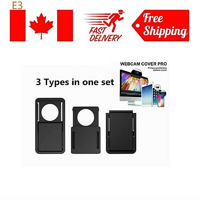Webcam Cover Ultra Thin 3 Pack, Anti-hacker Privacy webcam Cover for Laptop, PC