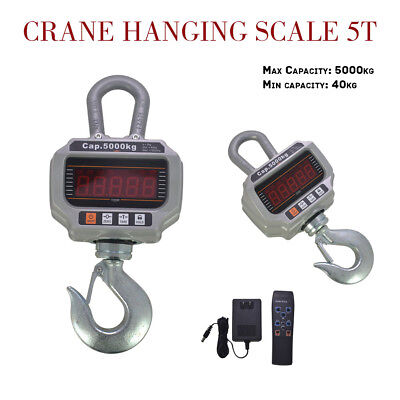 11,000LBS Heavy Duty Digital Crane Hanging Scale w/ LED Display 5000Kg OCS-T