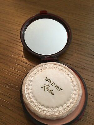 Vintage Revlon  Love Pat Face Cake Powder In  Mirror Compact New Old Stock