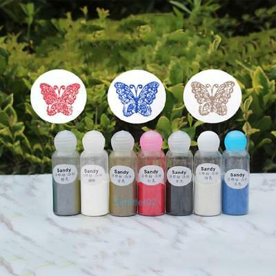 20ml DIY Metallic Embossing Powder Pigment Stamping Craft Supplies Heating New