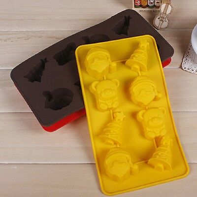 Chocolate Cake Cookie Muffin Jelly Baking Silicone Bakeware Mould Mold Xmas