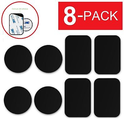 8 PCS Metal Plates Adhesive Sticker Replace For Magnetic Car Mount Phone Holder