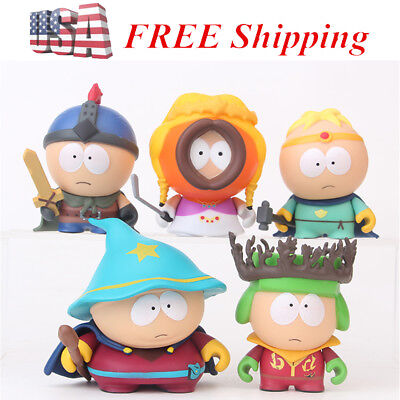 Anime South Park Stan Kyle Eric Kenny Leopard 6 PCS Figure Cake Topper Doll Toy