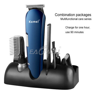 5in1 Electric Wireless Shaver Washable Nose Ear Beard Trimmer Razor Hair Clipper
