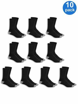 Mens Crew Athletic Socks 10 pair size 6-12 black white cotton and polyester