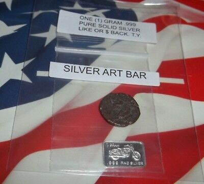50-476AD Group of 1 Authentic Ancient Roman Coin, 1 gram solid silver