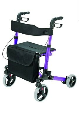 HealthSmart Euro Style Medical Rollator Walker, Compact Folding Walker,