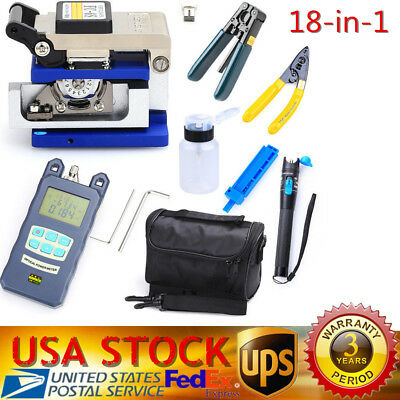 Fiber Optic FTTH Tool Kit FC-6S Fiber Cleaver Power Meter Visual Finder Locator